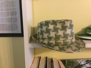 Tad Gormley's hat in the New Orleans Odditarium.