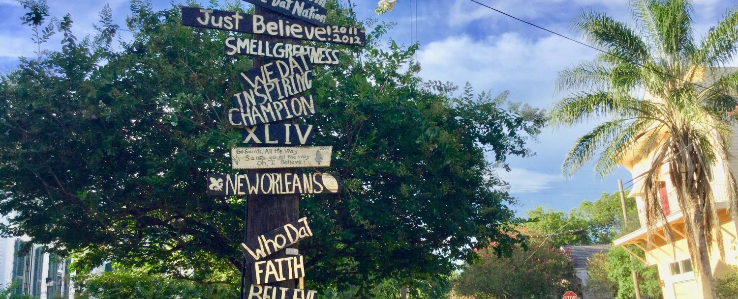 New Orleans is a city of sentiments.