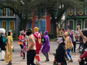 You never know what you'll see in New Orleans.