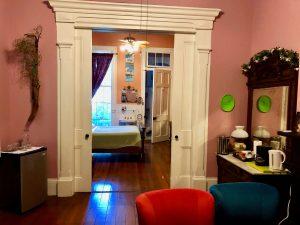 Sitting room in Les Fleurs Suite