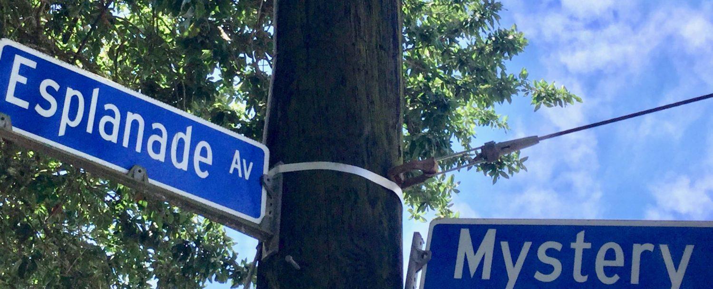 Esplanade Rd sign