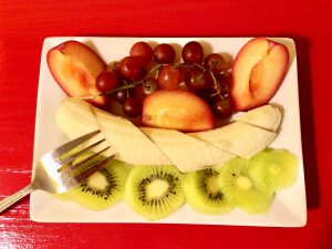 A fruit plate in New Orleans.