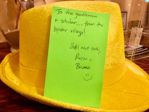 Yellow fedora in New Orleans.