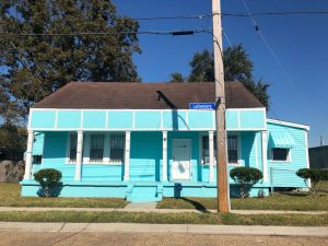 blue house in New Orleans.