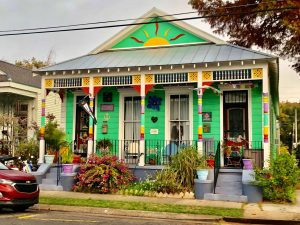 A colorful house in New Orleans.