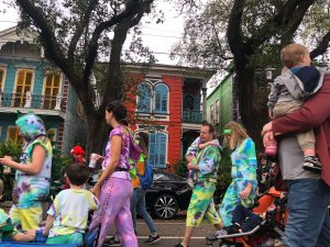 You never know who you'll see in New Orleans.